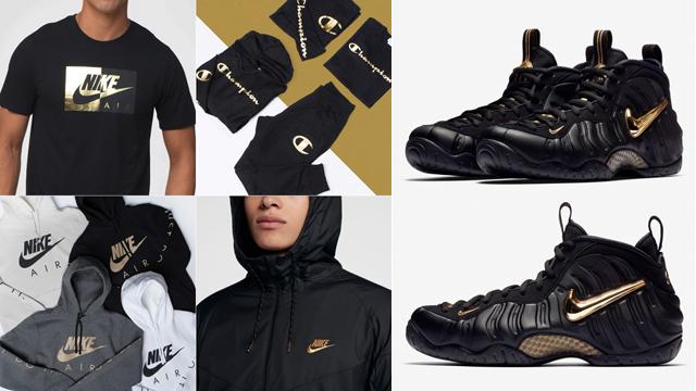 Nike Foamposite Pro Black Gold Clothing