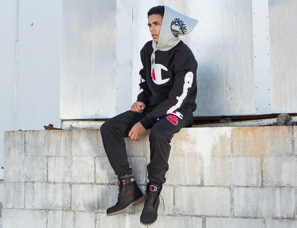 champion-timberland-black-boot-hoodie-pants