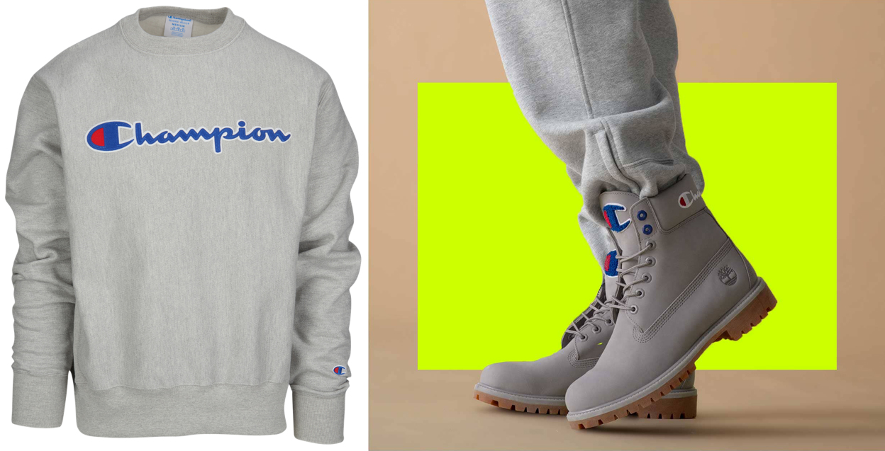 champion-timberland-grey-boot-crew-sweatshirt-match
