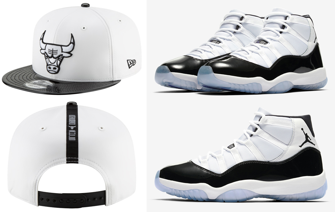 "0dbff1295f73 Air Jordan 11 ""Concord"" x Chicago Bulls New Era Concord Retro Hook Snapback  Cap"