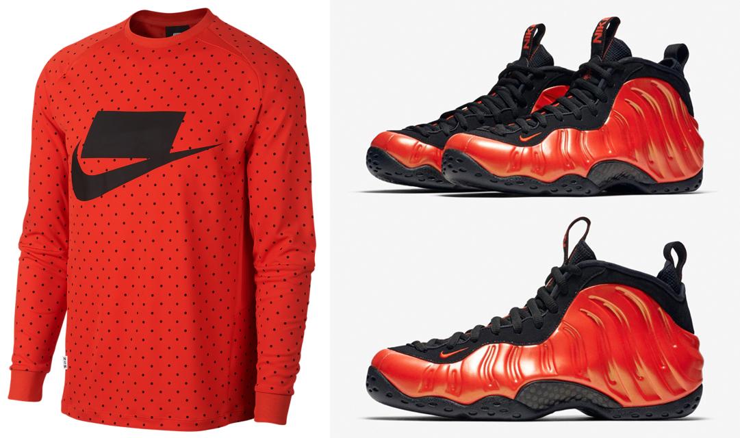 huge discount a028b 428ba Nike Foamposite One Habanero Shirt Match | SneakerFits.com