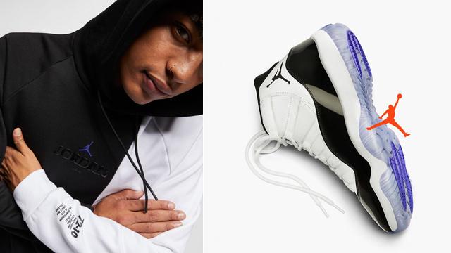 new photos 6a919 f998d Air Jordan 11 Concord 2018 Hoodie | SneakerFits.com