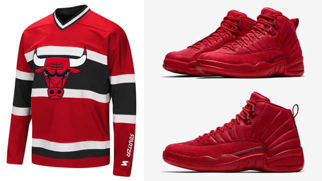 red 12s outfit