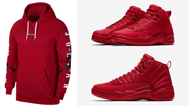 jordan-12-gym-red-hoodies
