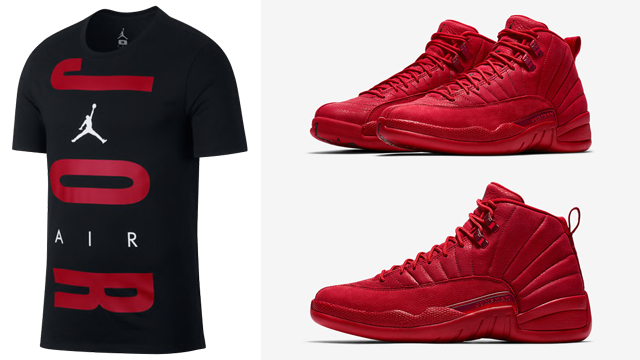 gym red 12s outfit