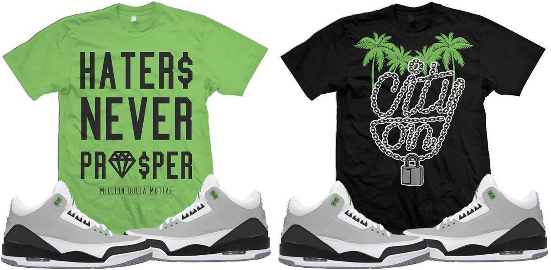 jordan-3-chlorophyll-sneaker-match-tee-shirts
