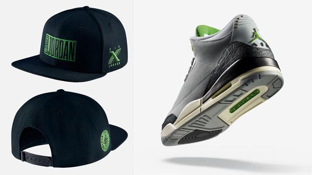 "bc83311d017b Air Jordan 3 ""Chlorophyll"" x Jordan Pro Legacy Tinker Snapback Cap"