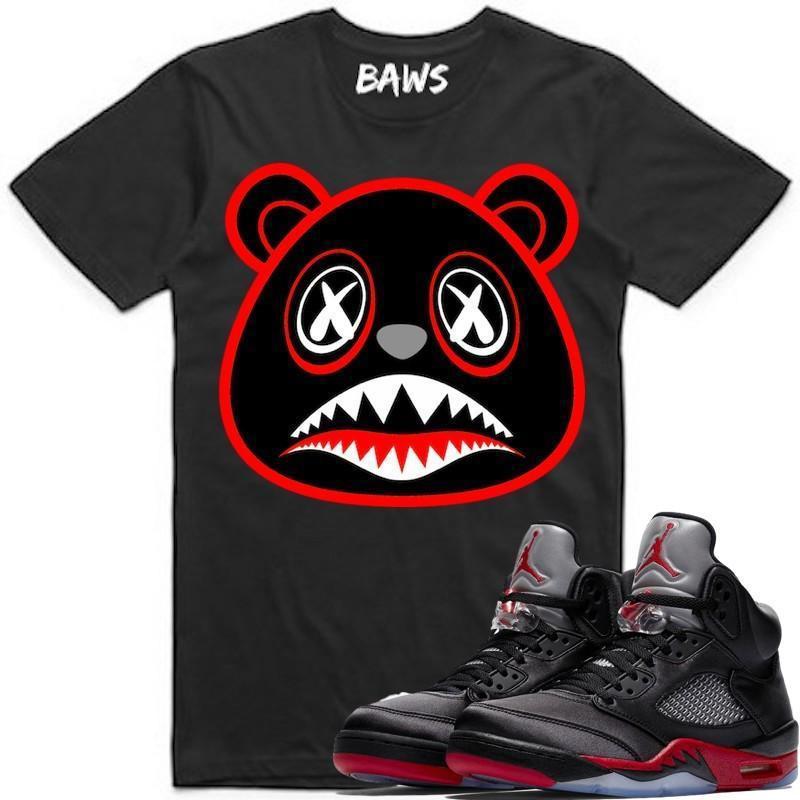 jordan-5-satin-bred-sneaker-tee-shirt-baws-clothing