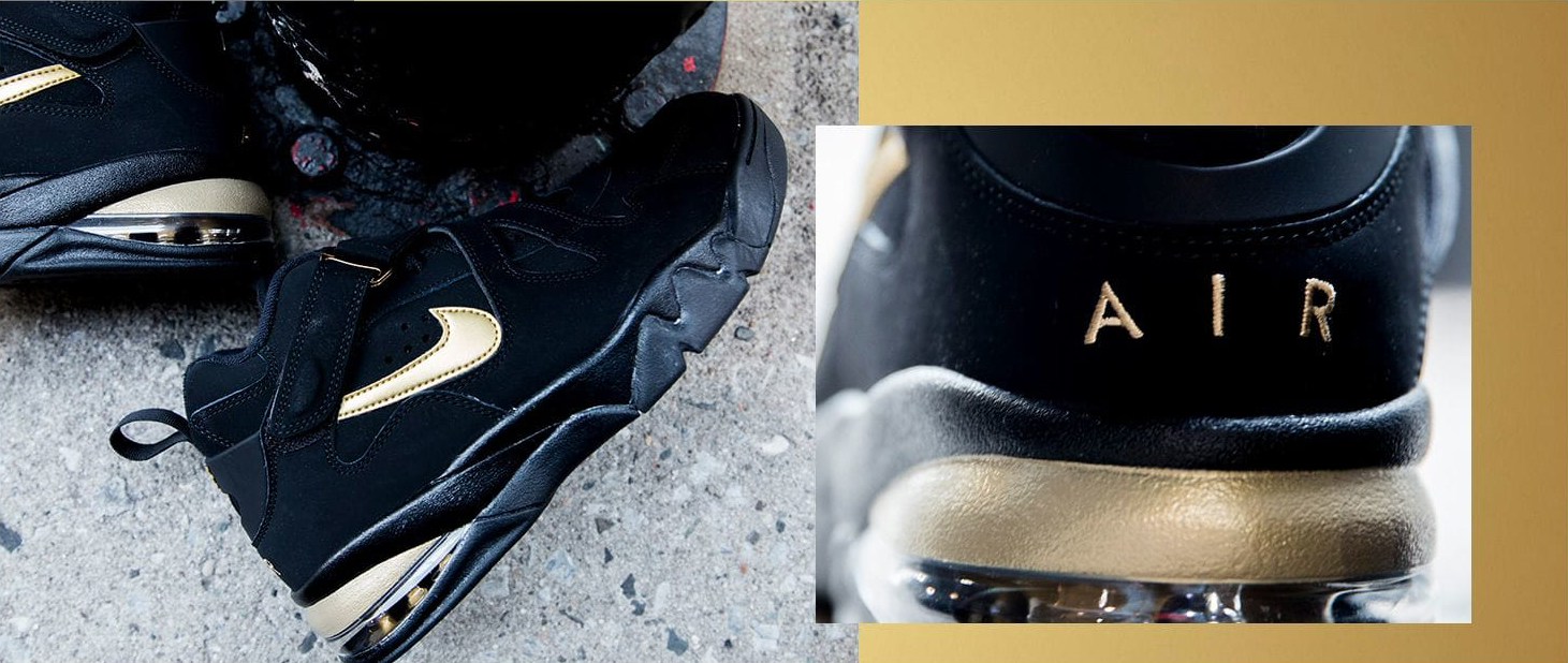 nike air force max cb black gold