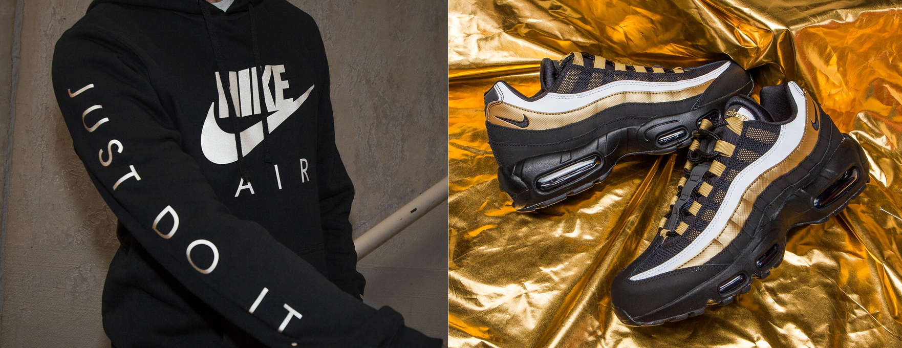 "the latest 165ee 1db77 Nike Air Max 95 ""Black Metallic Gold"" x Nike Shirts, Hoodies, Jacket and  Hats to Match"