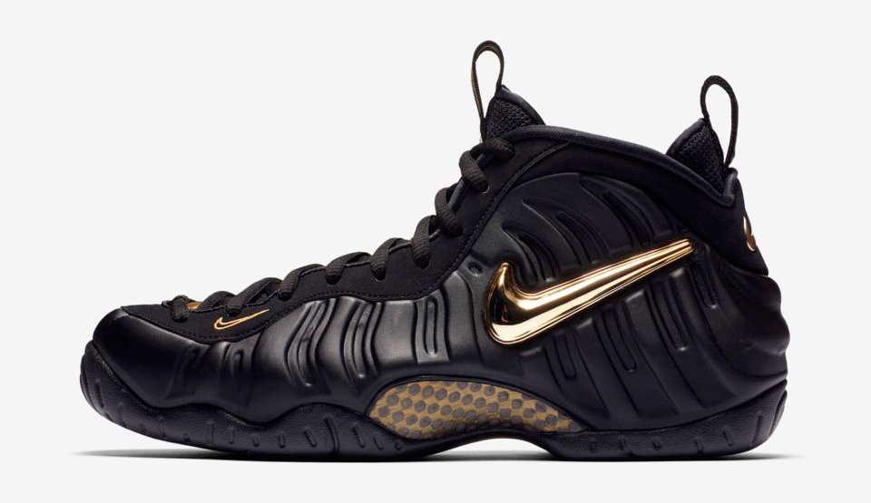 a5962612 Foamposite Pro Black Gold Clothing Match | SneakerFits.com