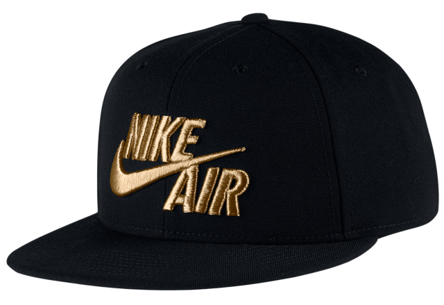 nike-foamposite-pro-black-gold-hat-match-1
