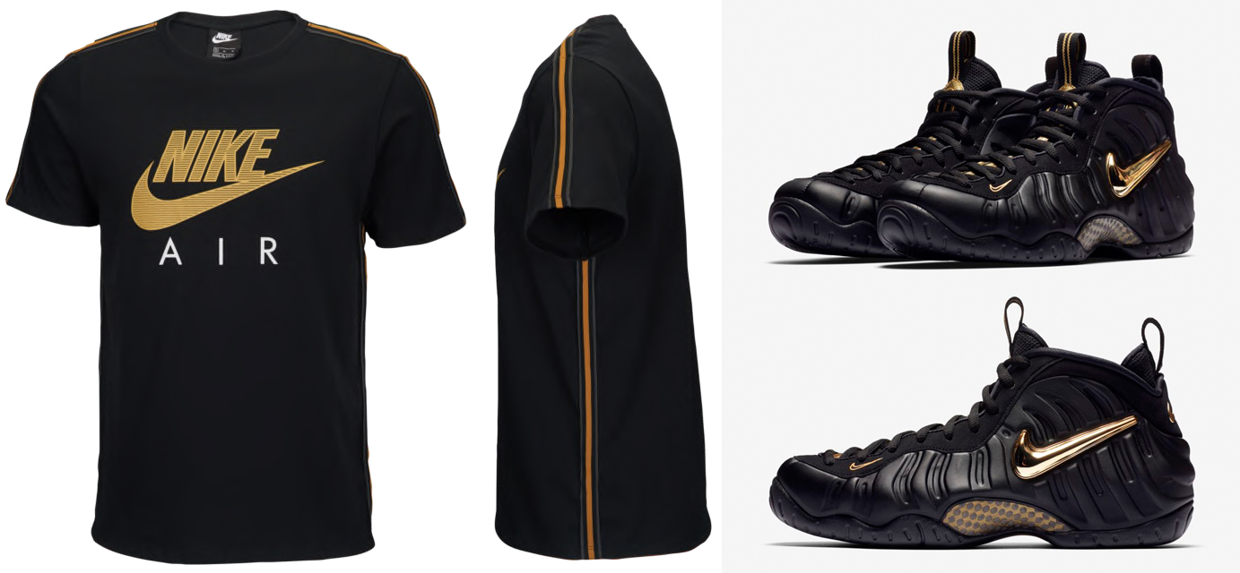 Great Ppl Only T-Shirt To Match Foamposite Pro Black Metallic Sneakers