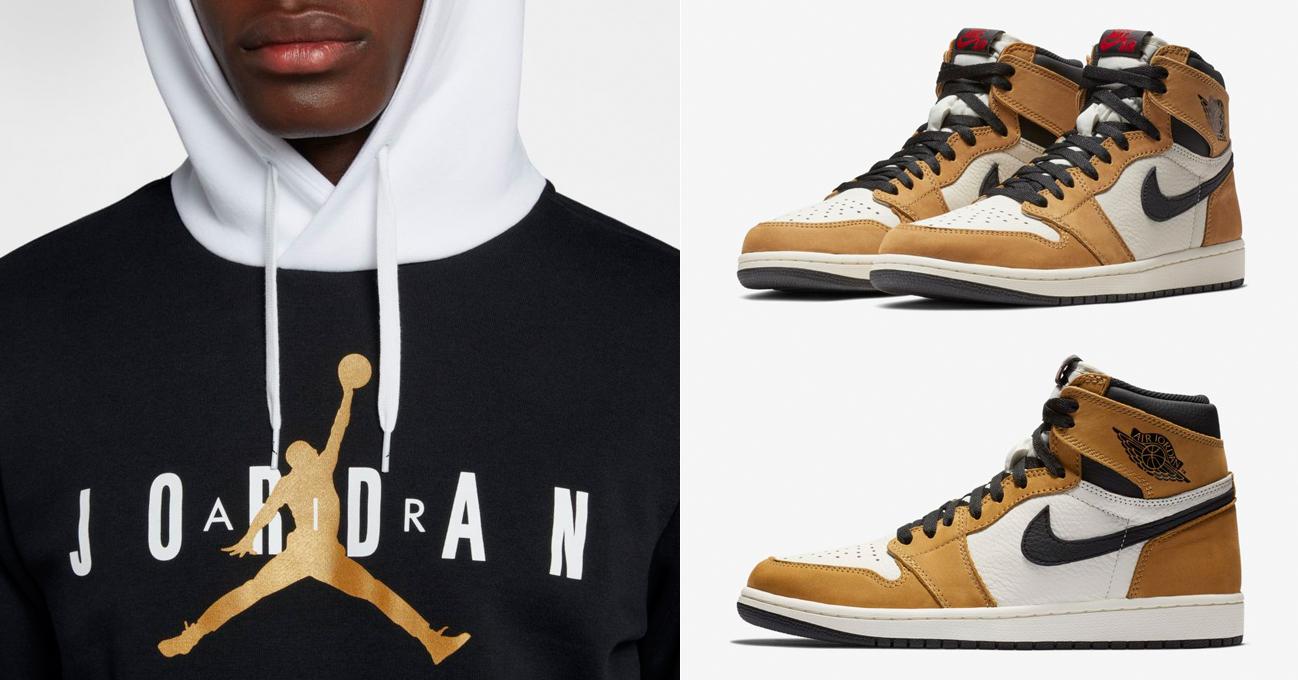 "7b92b61361a Jordan Jumpman Air Fleece Hoodie and Pants to Match the Air Jordan 1  ""Rookie of the Year"""