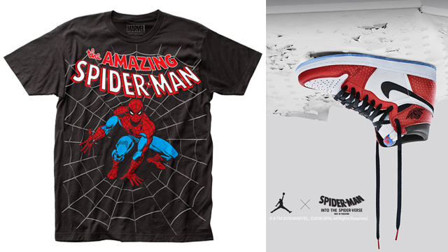 "8e38271efd86a4 10 Retro Spider-Man T-Shirts to Match the Air Jordan 1 High OG ""Origin Story """