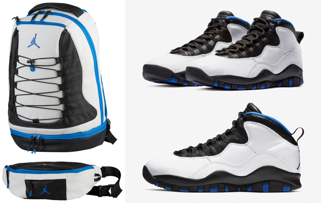 "a3597acc909fbb Air Jordan 10 ""Orlando"" x Jordan Retro 10 Backpack and Cross Body Bag"