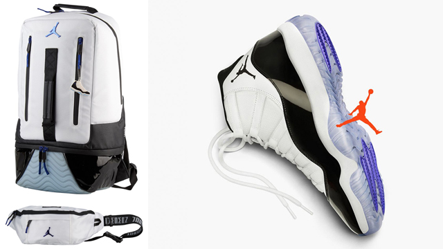 "f3314d1a3a7aca Air Jordan 11 ""Concord"" x Jordan Retro 11 Backpack and Crossbody Bag"