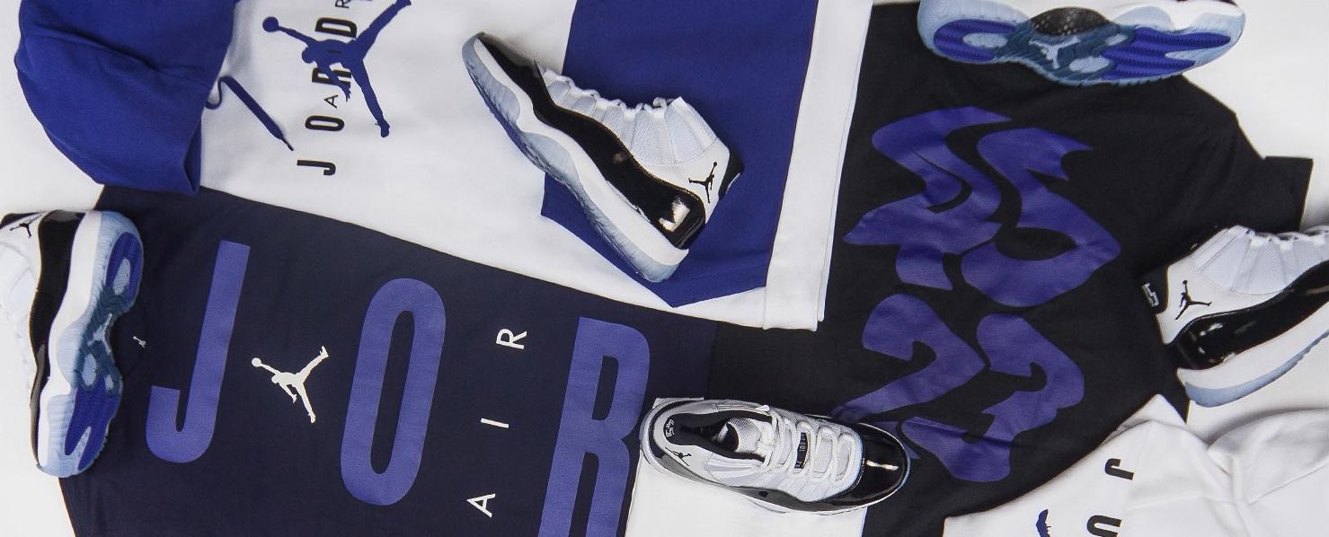 b2d58d8bad860 Air Jordan 11 Concord Clothing Collection