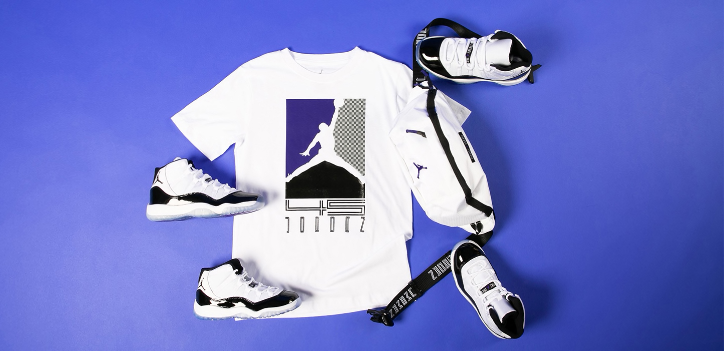 c62f678144ac5 Jordan 11 Concord Kids Shoes Clothing Shirts Gear | SneakerFits.com