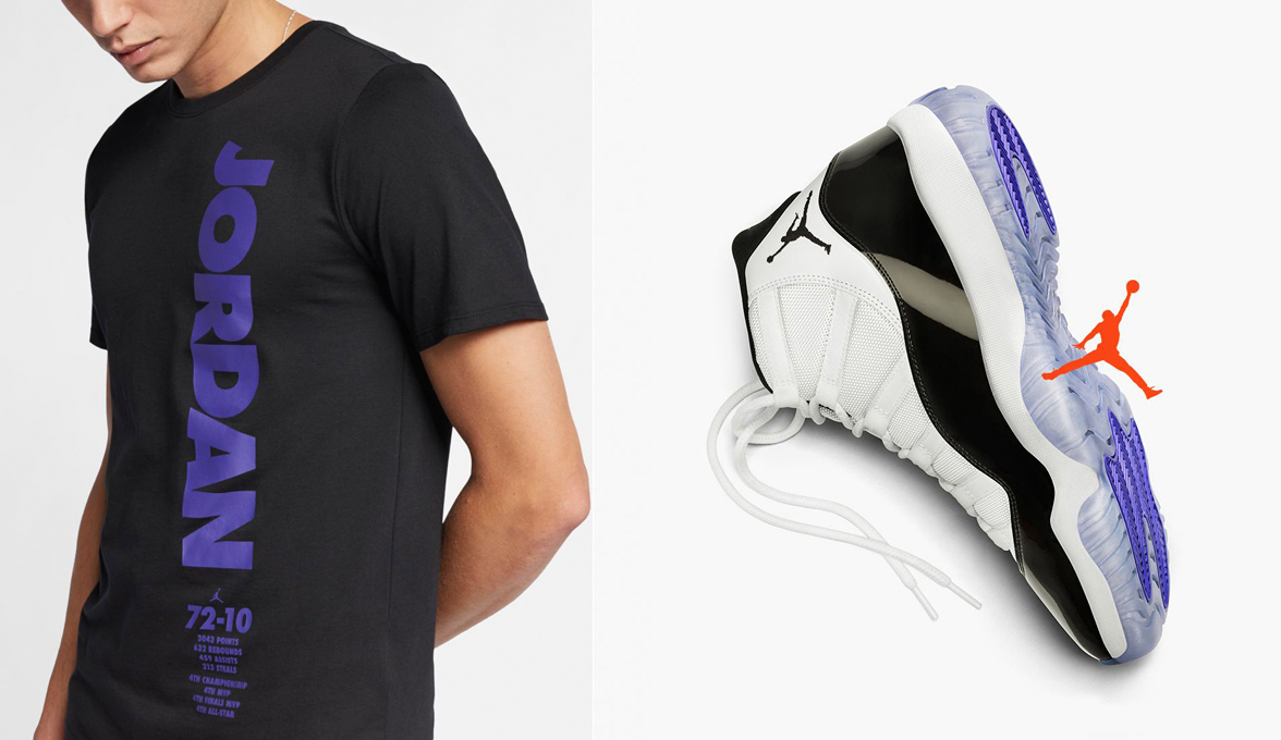 the latest 734c7 6e0cc Air Jordan 11 Concord 2018 T Shirt | SneakerFits.com