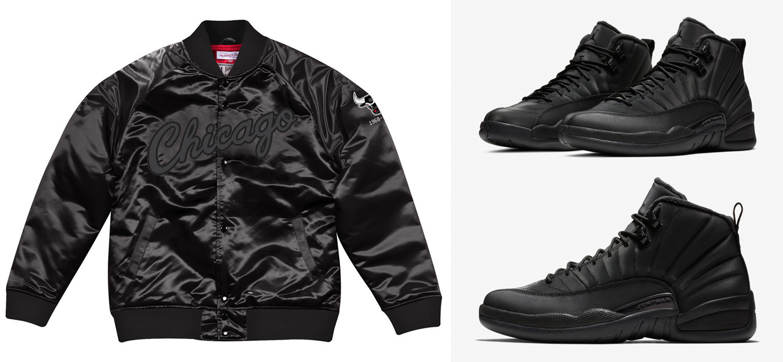 separation shoes 94632 78df1 Air Jordan 12 Winterized Black NBA Jackets   SneakerFits.com