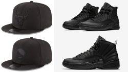 air-jordan-12-winterized-black-new-era-caps