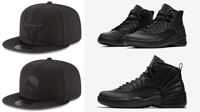 air-jordan-12-winterized-black-new-era-caps