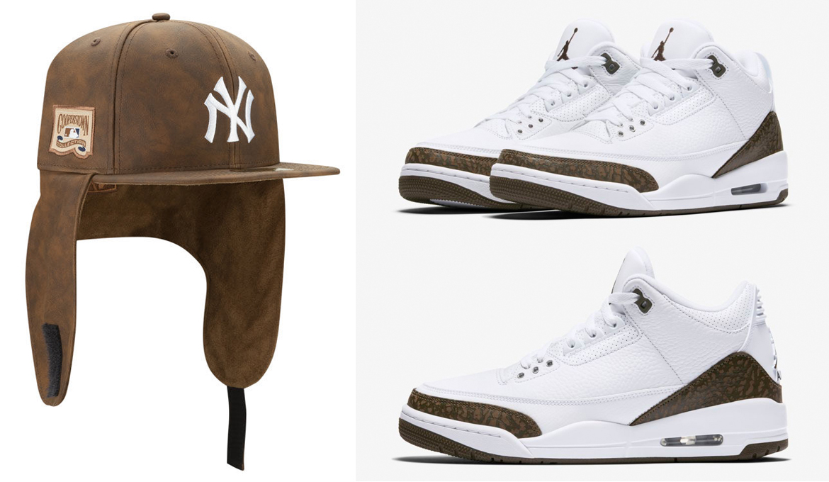 "c6ea7cb9a4954b Air Jordan 3 ""Mocha"" x New York Yankees New Era MLB Premium Dogear 59FIFTY  Cap"