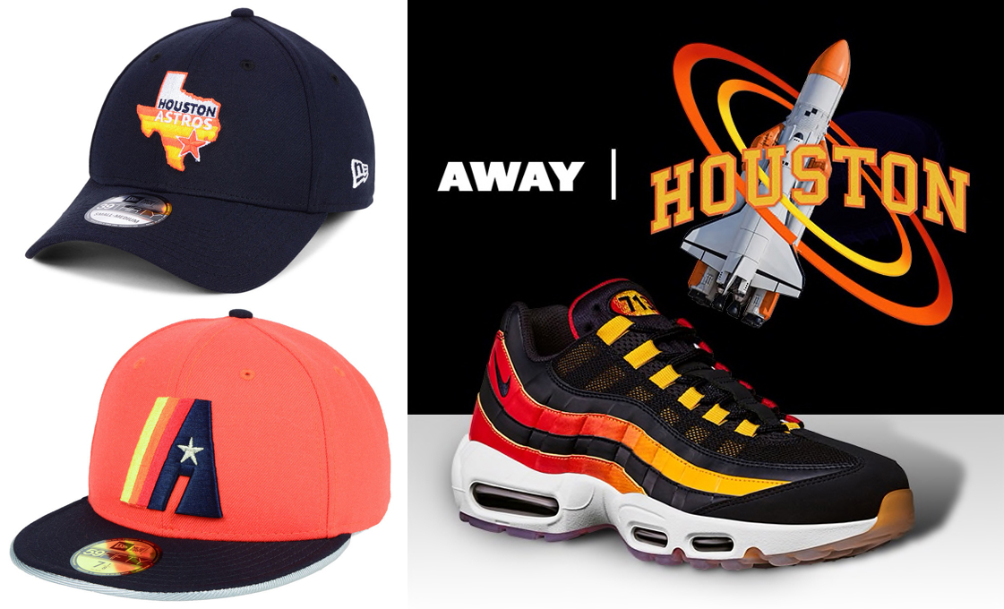 Nike Air Max 95 Houston Away Astros Hats  ba2ddd2274b