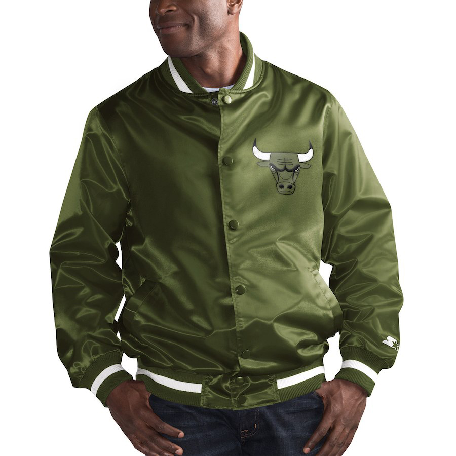 chicago-bulls-olive-starter-satin-jacket