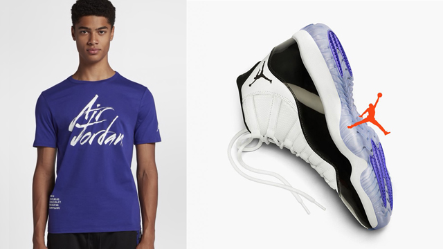 """09a41a9ef4445a ... is ready to return and to match the Air Jordan 11 """"Concord"""" kicks are  these Jordan Greatest T-Shirts to hook. Inspired by Michael Jordan s  greatness in ..."""