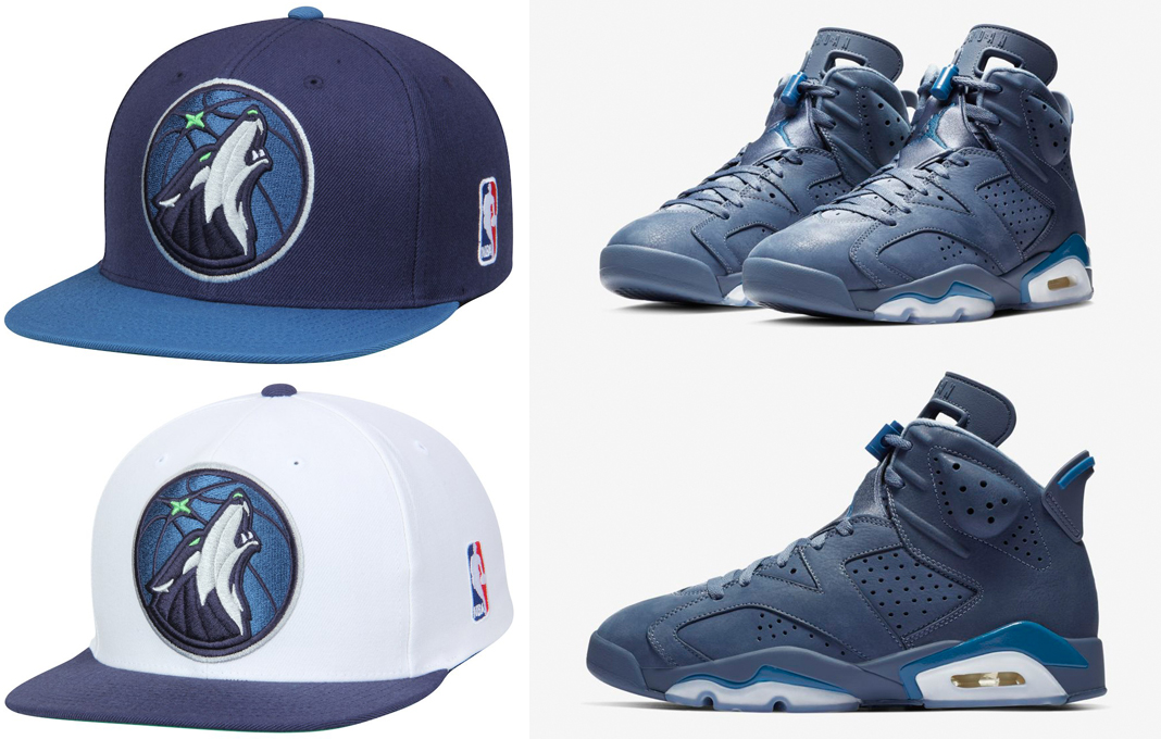 "56ce4073a13 Air Jordan 6 ""Jimmy Butler"" x Minnesota Timberwolves Mitchell   Ness XL  Logo Two-Tone Snapback Hats"
