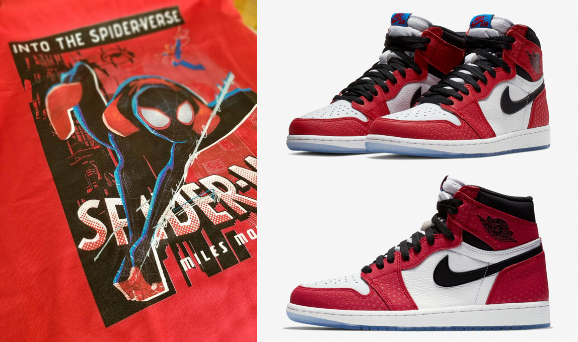 sports shoes a063d 2a1ab Air Jordan 1 Origin Story Spiderman Shirts | SneakerFits.com