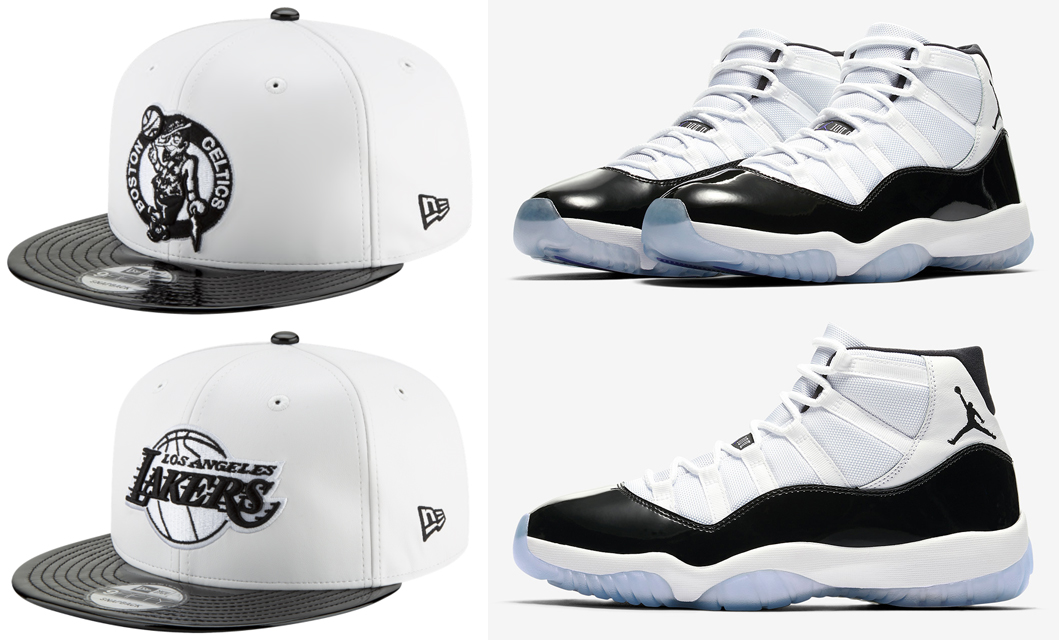 "4d9cb92efdc8c3 Air Jordan 11 ""Concord"" x New Era NBA 9FIFTY Retro 11 Hook Snapback Caps"