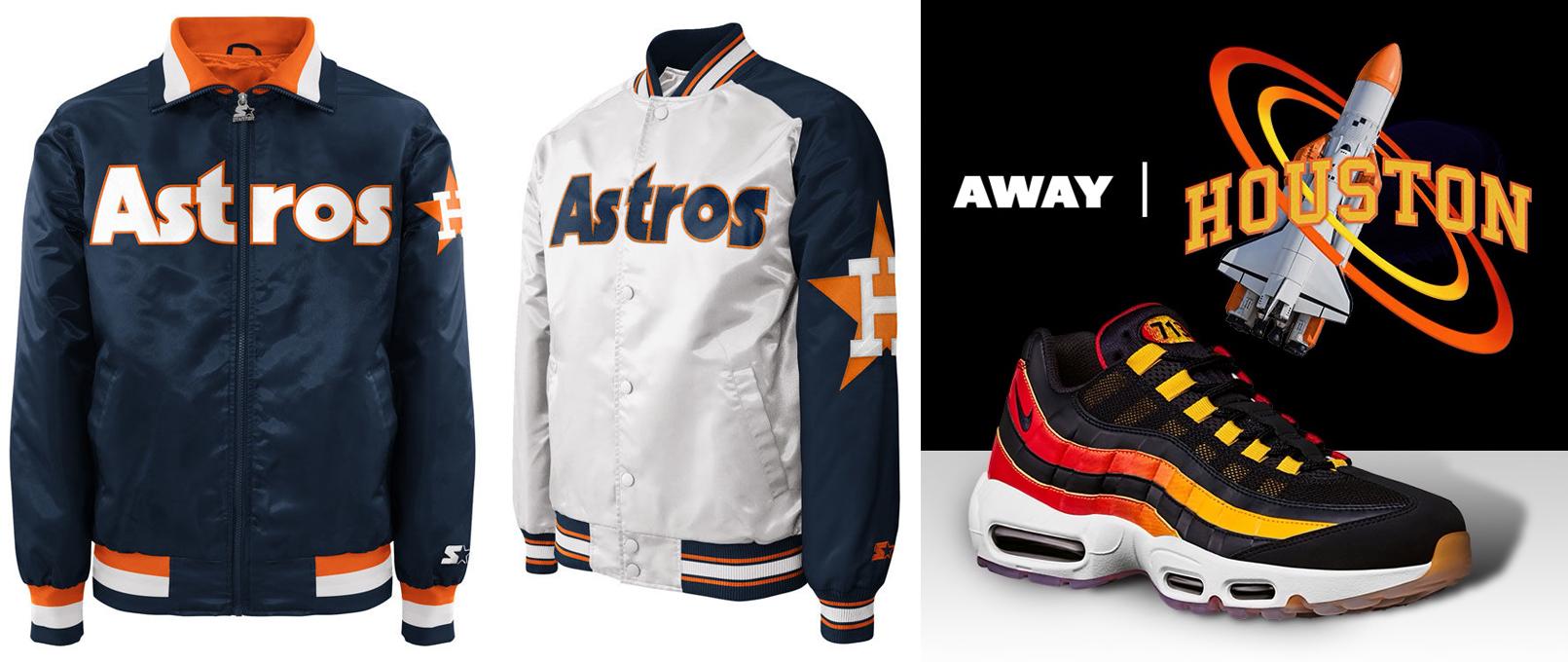 low priced 482fa 94e61 Nike Air Max 95 Houston Away Astros Jacket | SneakerFits.com