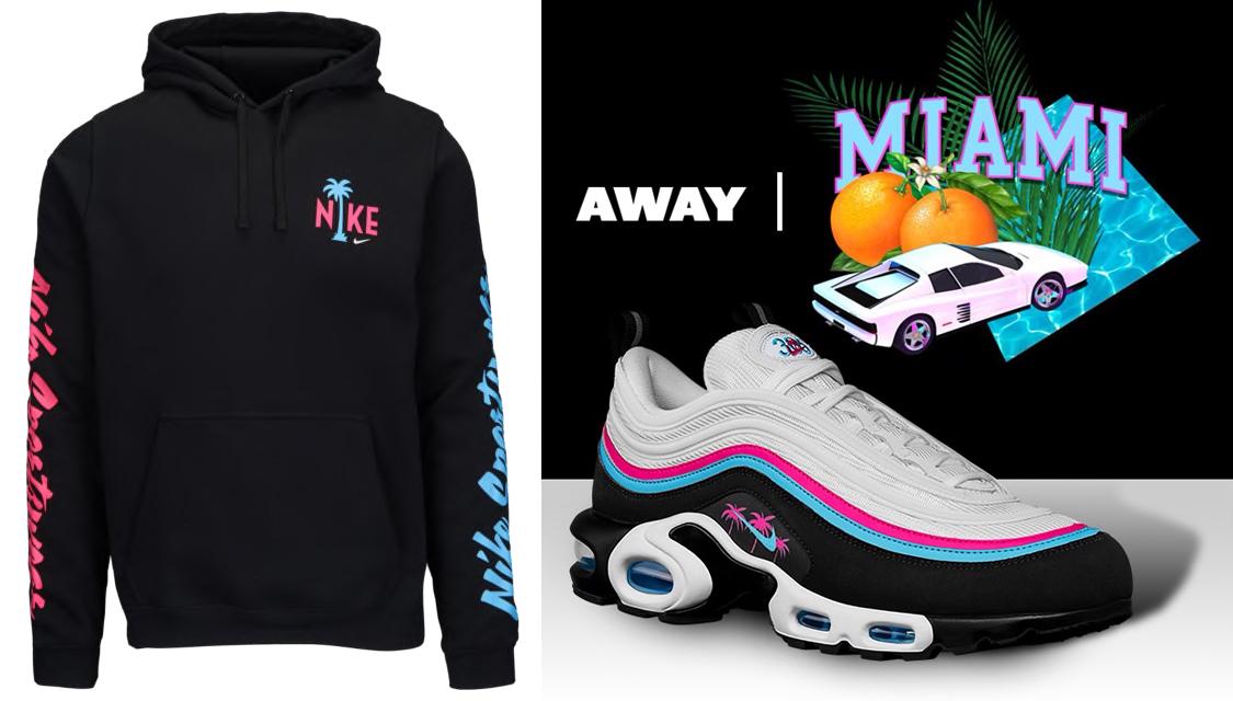 best sneakers 46a2a 1c686 Nike Air Max 97 Plus Miami South Beach Hoodie | SneakerFits.com