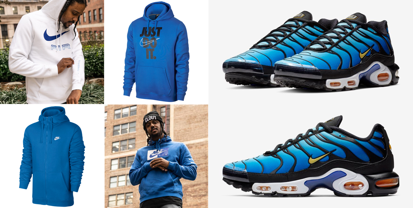 "the latest 4bd92 4b7cc Nike Sportswear Hoodies to Match the Nike Air Max Plus OG ""Hyper Blue"""