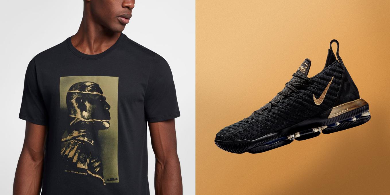 Nike LeBron 16 Im King Black Gold Shirt