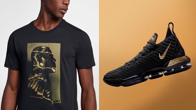 3dd62f23e2869 Nike LeBron 16 Im King Black Gold Shirt | SneakerFits.com