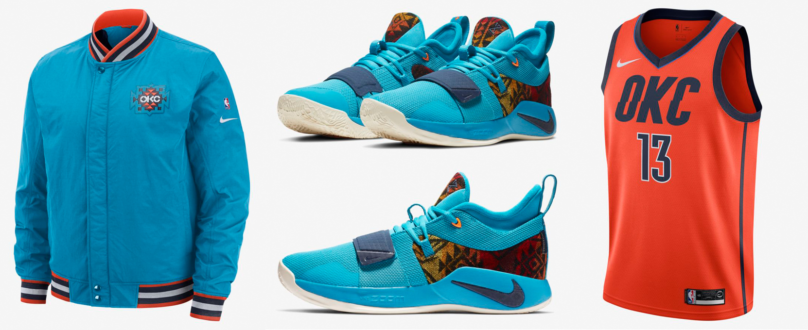 wholesale dealer e2861 b008f Nike PG 25 Pendleton OKC Thunder Gear Match | SneakerFits.com