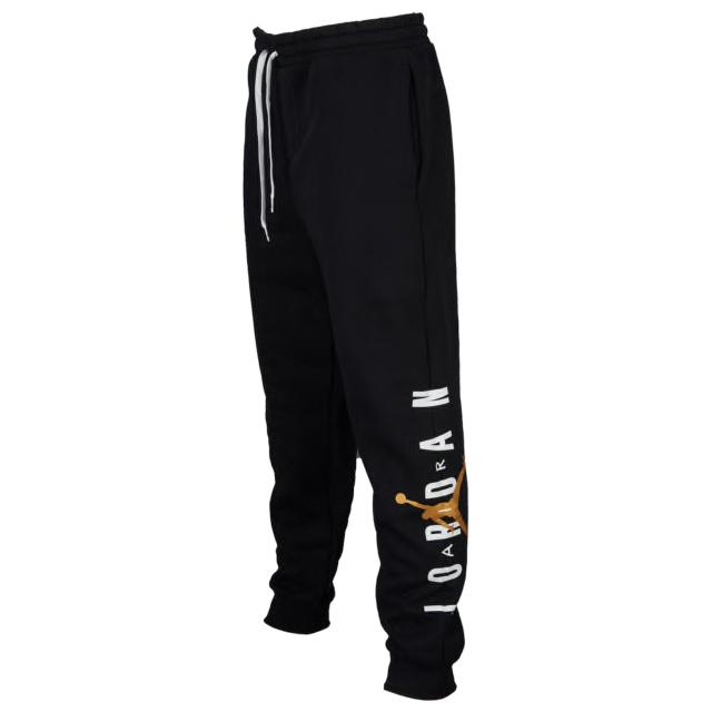 air-jordan-1-mid-black-gold-patent-pants
