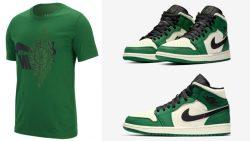 air-jordan-1-mid-pine-green-tee-shirt