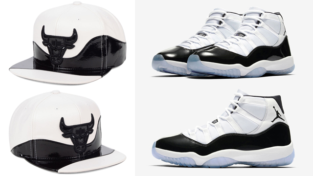 "fdd6552d1f Air Jordan 11 ""Concord"" x Chicago Bulls Mitchell & Ness Shine Snapback Cap"