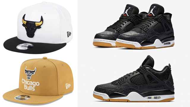 air-jordan-4-black-laser-bulls-hats