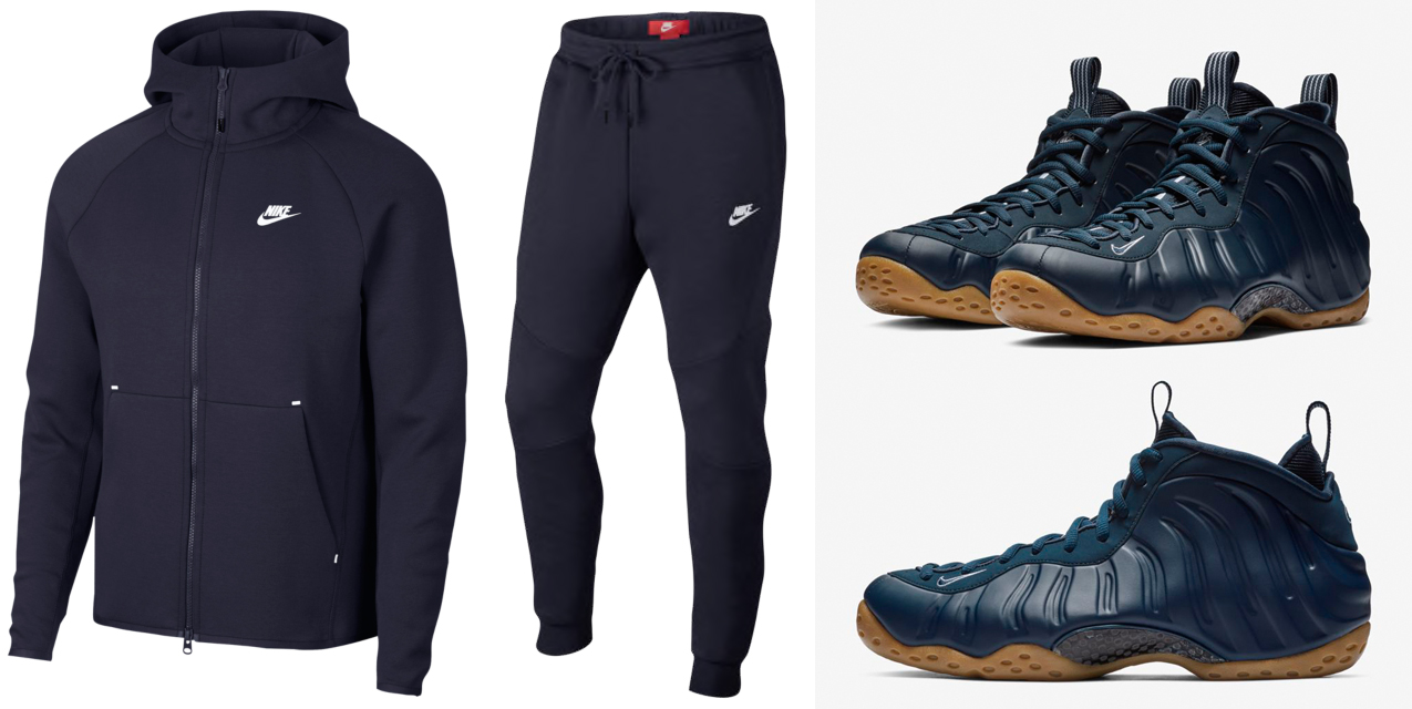 63708c4d9fca2 Midnight Navy Gum Foamposite Nike Clothing