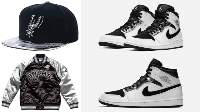 promo code 88182 e36de Jordan 1 Mid Kawhi Alternate Spurs Gear | SneakerFits.com