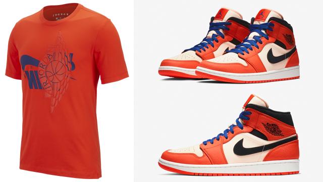 jordan 1 mid team orange