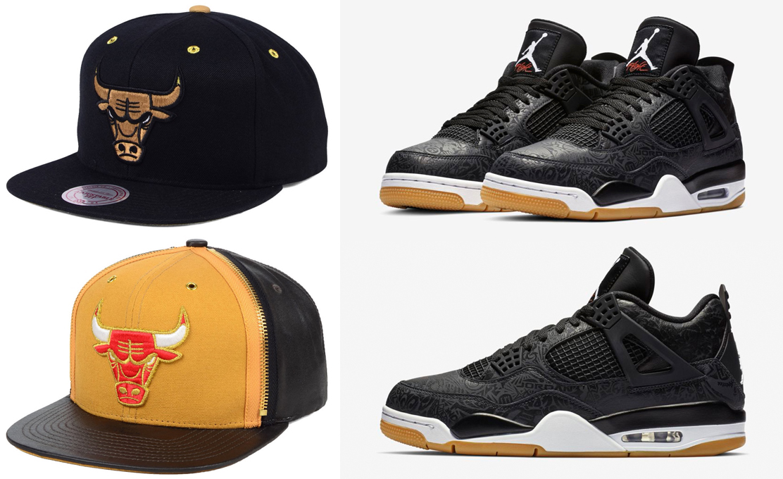 8d8d6cc7 Black Laser Jordan 4 Bulls Hats to Match | SneakerFits.com