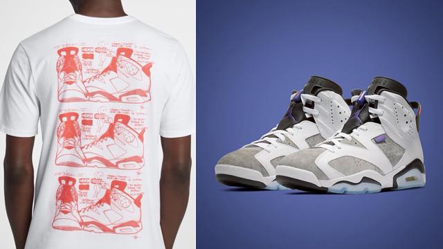jordan-6-flint-sneaker-tee-shirt-match