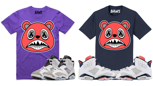 """BAWS Infrared Sneaker Shirts and Hoodies to Match the Air Jordan 6 """"Flint""""  and """"Tinker"""" 57c728550"""
